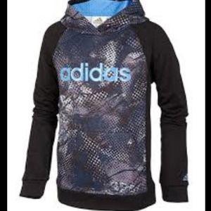 ADIDAS Boys Digi Fusion Pullover Hoodie Sweatshirt